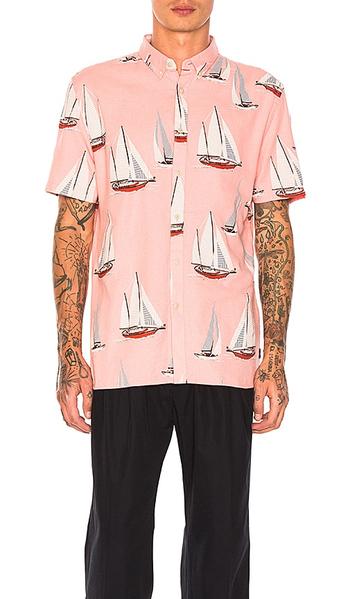 Barney Cools Yacht Club Shirt in Pink
