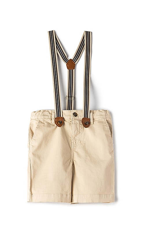 Bardot Junior Chino Braces Short in Tan