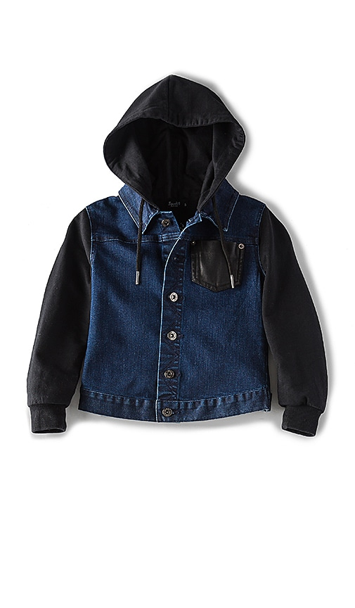 Bardot Junior PU Pocket Denim Jacket in Blue
