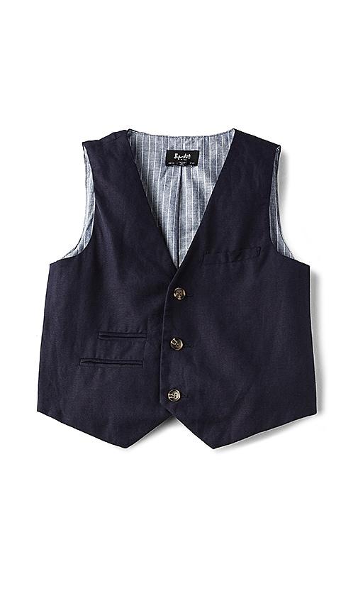 Bardot Junior Miles Linen Vest in Blue