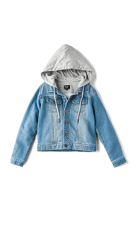 Bardot Junior Denim Knit Jacket in Blue
