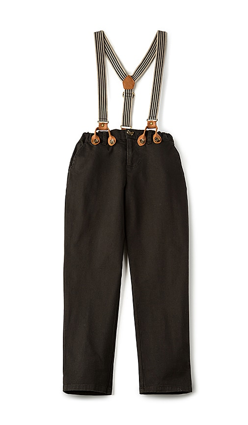 Bardot Junior Basic Chino With Braces in Black