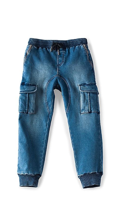 Bardot Junior Knit Cargo Pant in Blue
