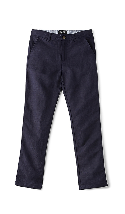 Bardot Junior Miles Linen Pant in Blue