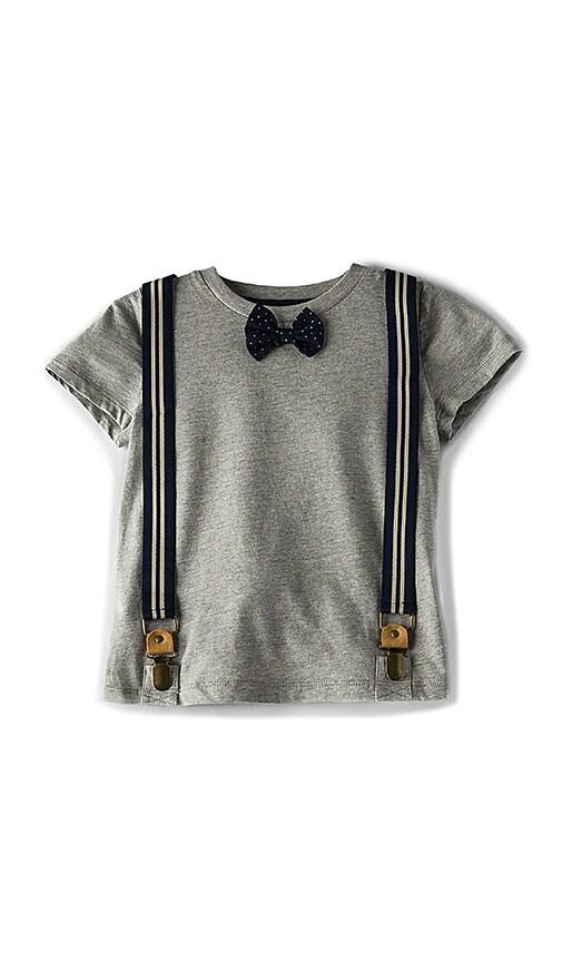 Bardot Junior Spot Tie Tee in Gray