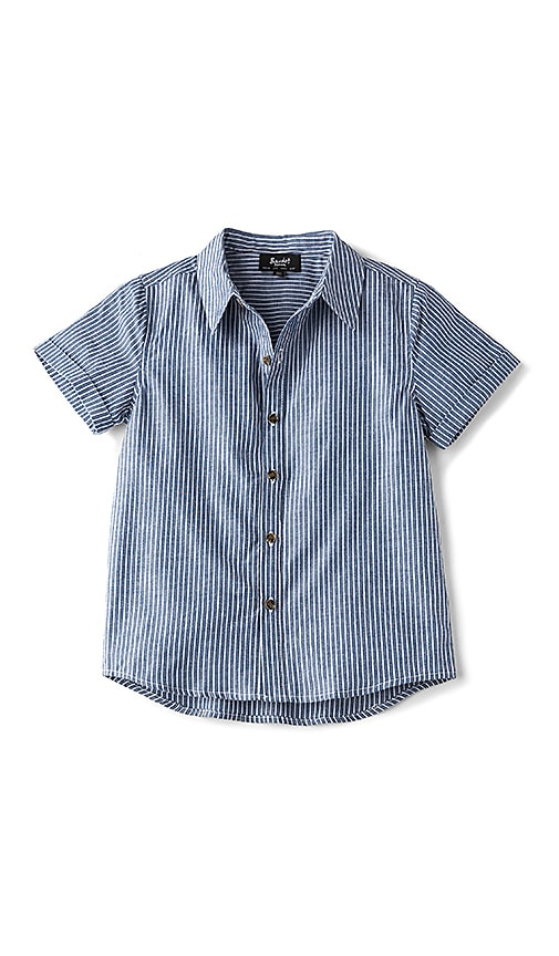 Bardot Junior Stripe Casual Shirt in Blue