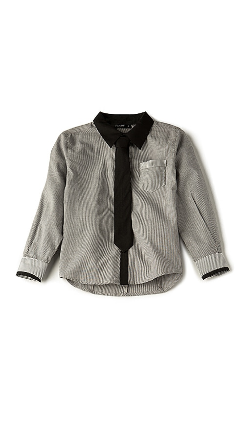 Bardot Junior Tie Shirt in Black & White
