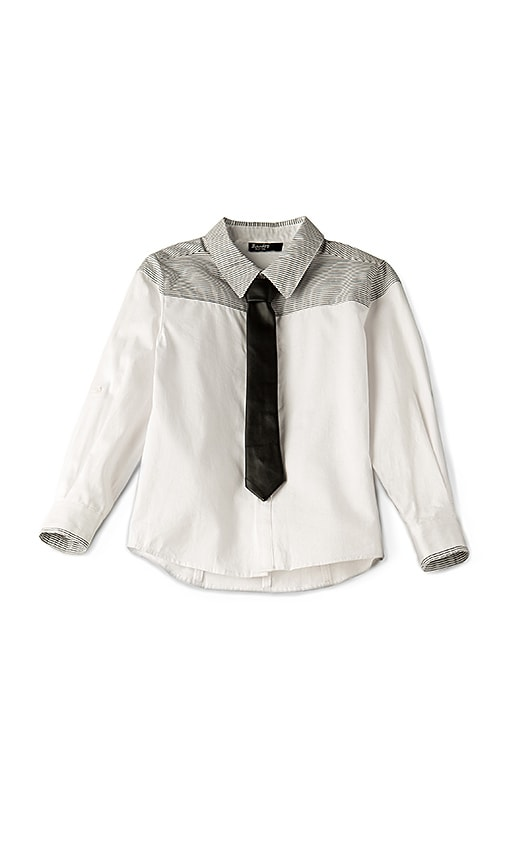 Bardot Junior PU Tie Shirt in White