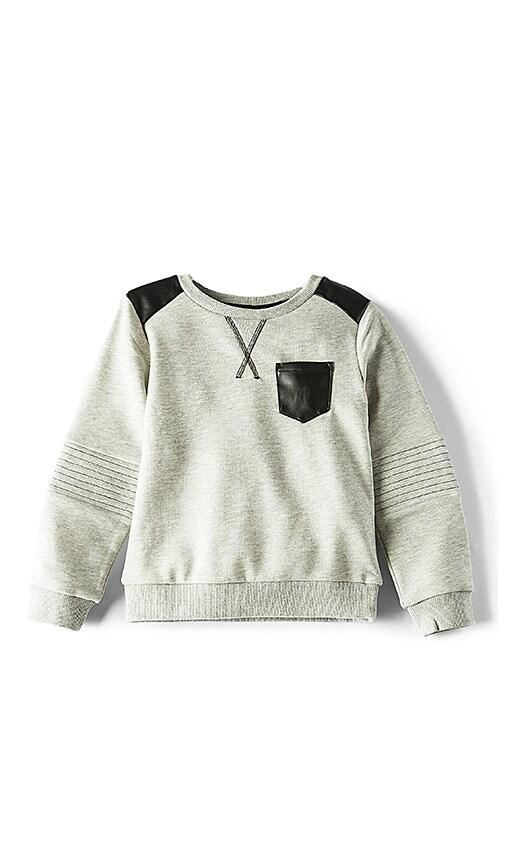Bardot Junior Moto Patch Sweater in Gray