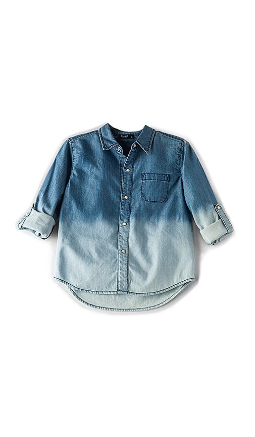 Bardot Junior Bleached Chambray Shirt in Blue