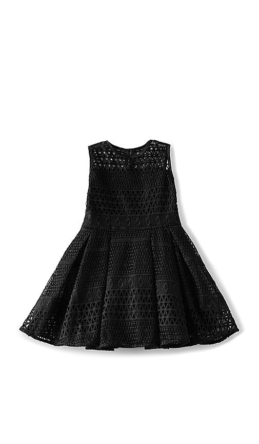 Bardot Junior Paneled Mesh Dress in Black