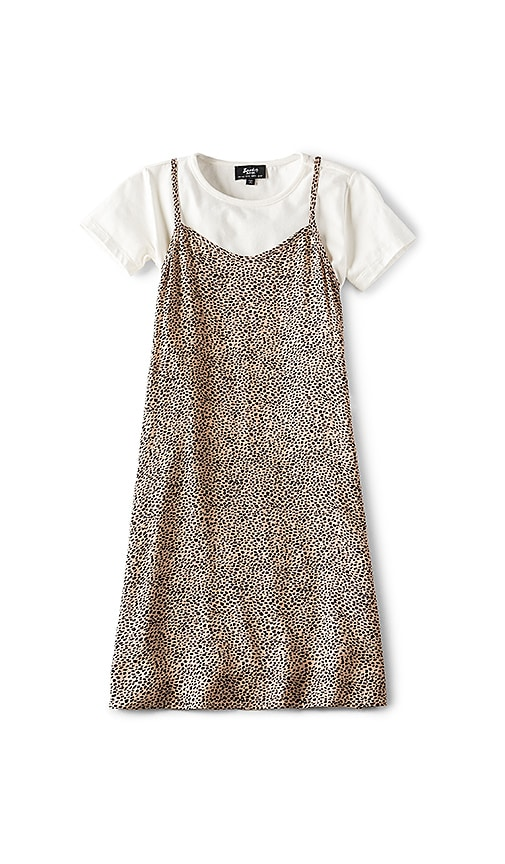 Bardot Junior Leopard Slip Dress in Tan