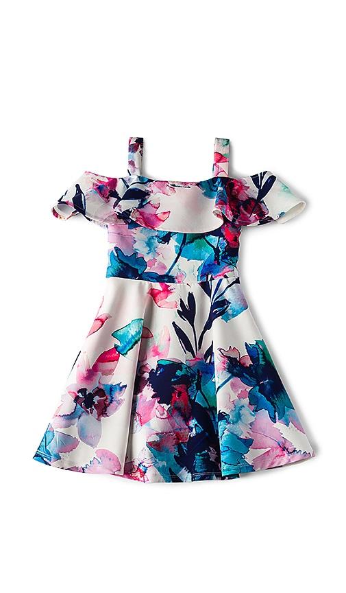 Bardot Junior Arabella Cold Shoulder Dress in Blue