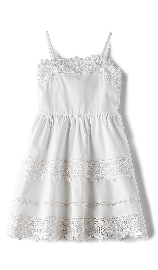 Bardot Junior Lace Border Dress in White