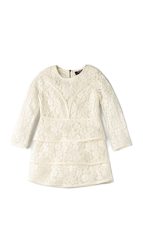 Bardot Junior Long Sleeve Sienna Dress in White