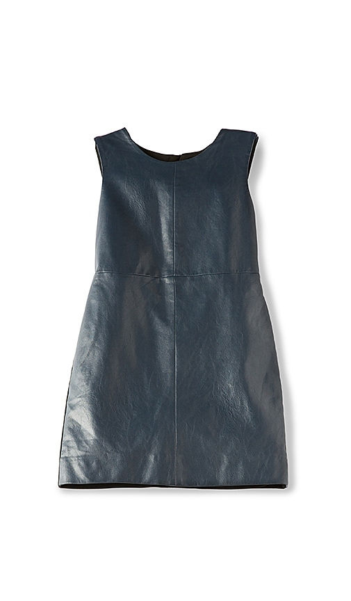 Bardot Junior Gwen Leatherette Dress in Navy