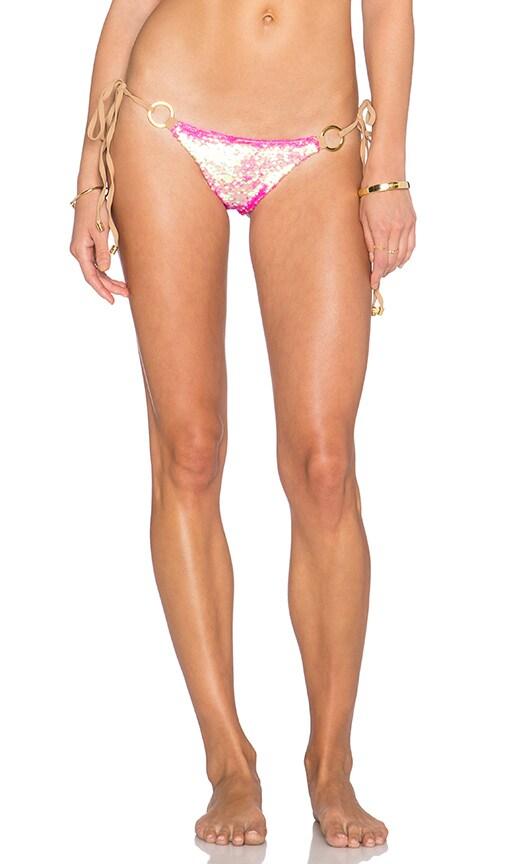 Beach Bunny Siren's Song Side Tie Skimpy Bikini Bottom in Pink