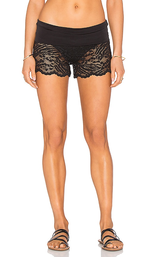 Beach Bunny All About That Lace Short Cover Up in Black