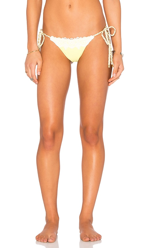 Beach Bunny Flamenca Bottom in Yellow