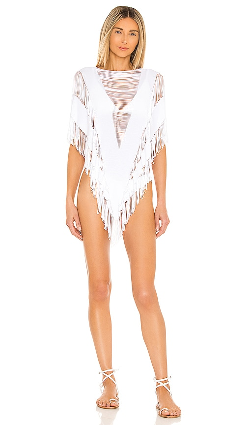 Beach Bunny Indian Summer Poncho in White