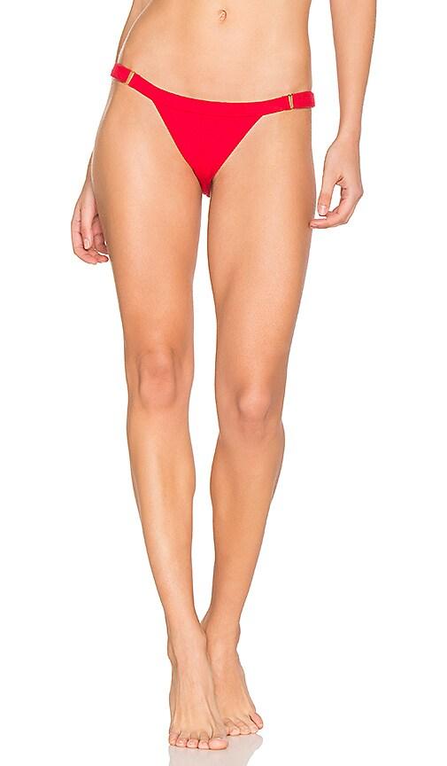 Beach Bunny Rib Tide Skimpy Bottom in Red