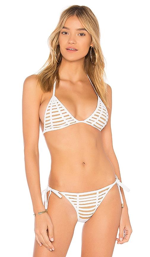 Beach Bunny Hard Summer Bikini Top in White