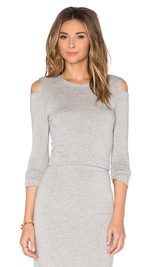 Beautiful People Open Shoulder Pullover in Gray