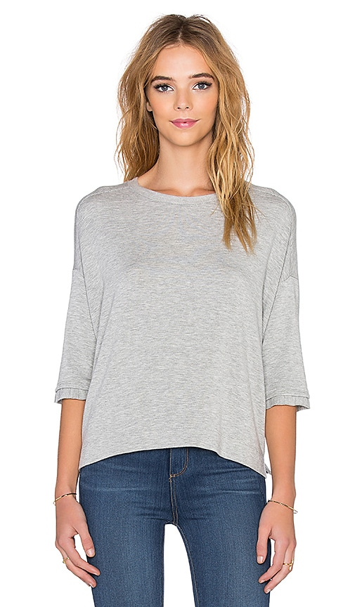 Beautiful People Supersoft Fleece Shortsleeve Sweatshirt in Grey