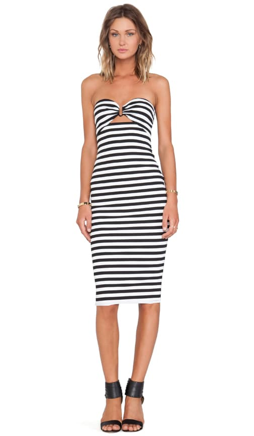 BEC&BRIDGE Seven Wonders Strapless Dress in Stripe