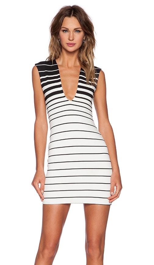 BEC&BRIDGE Reversible V Neck Dress in Stripe