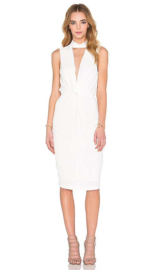 BEC&BRIDGE Liberty Twist Midi Dress in Ivory
