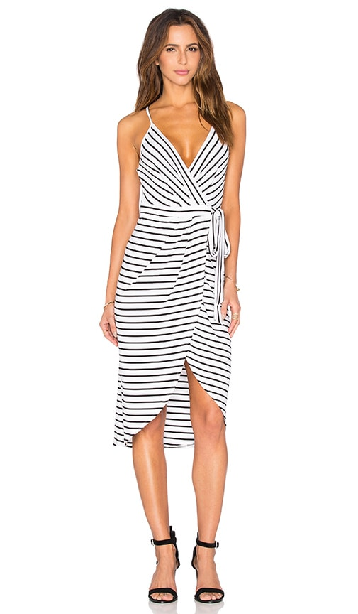 BEC&BRIDGE Across The Line Wrap Dress in White