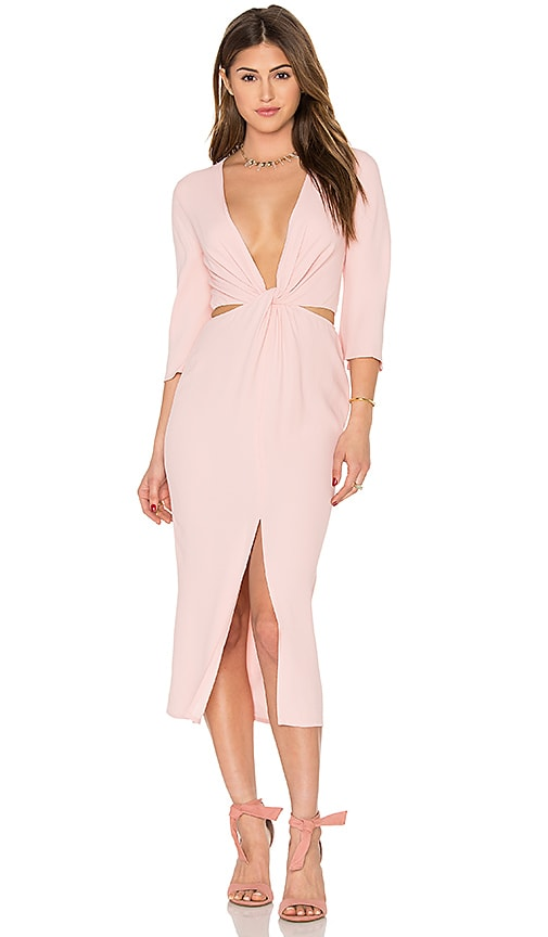 BEC&BRIDGE Slim Dusty Twist Dress in Rose