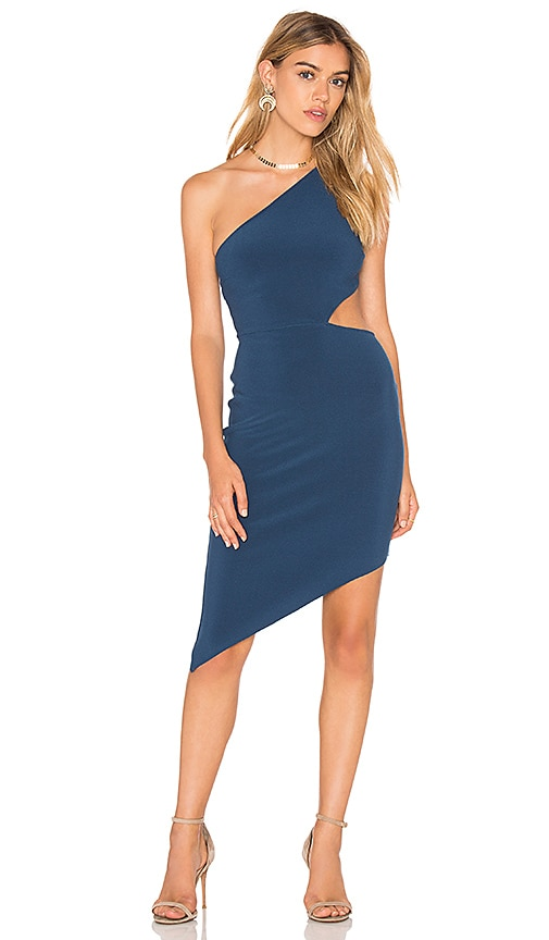 BEC&BRIDGE Lucienne Asymmetrical Dress in Blue
