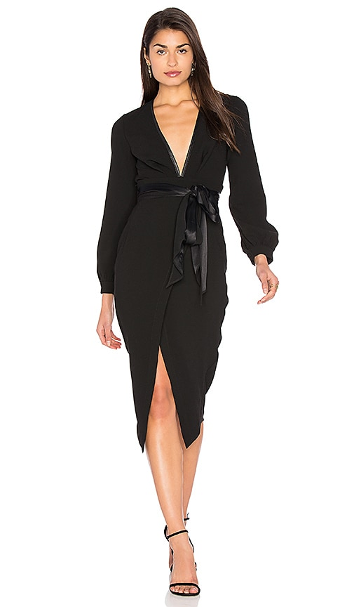 BEC&BRIDGE Roosevelt Long Sleeve Midi Dress
