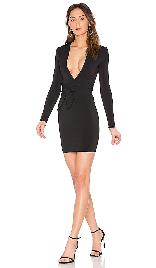India Rosa Long Sleeve Tie Dress
