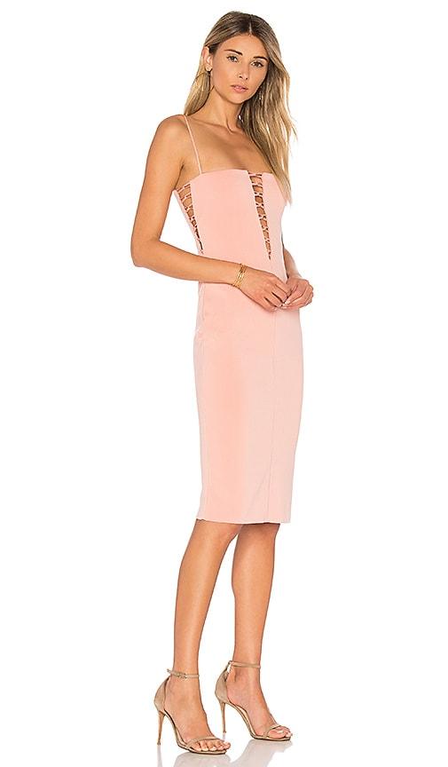 BEC&BRIDGE Metamorphic Plunge Dress in Blush