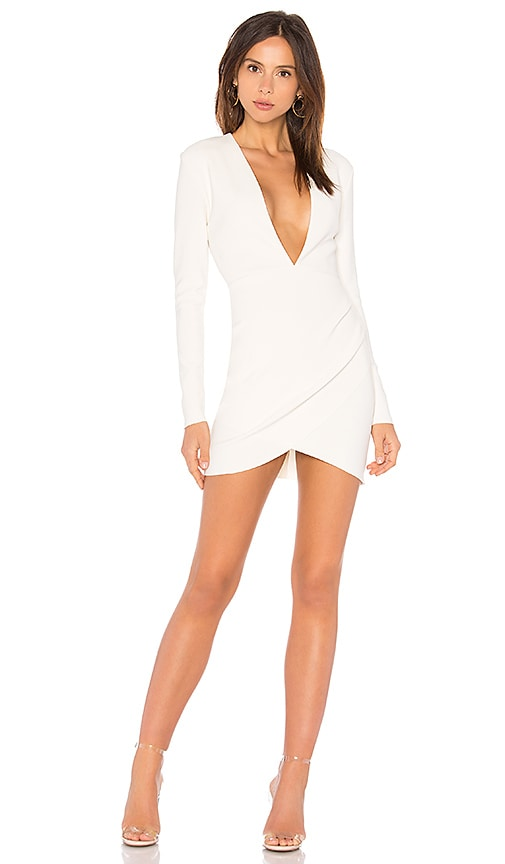 BEC&BRIDGE Marvellous Plunge Dress in Ivory