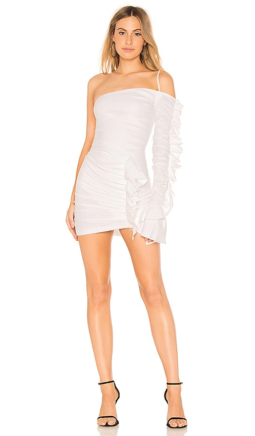 BEC&BRIDGE Frivolous Asymmetric Dress in White