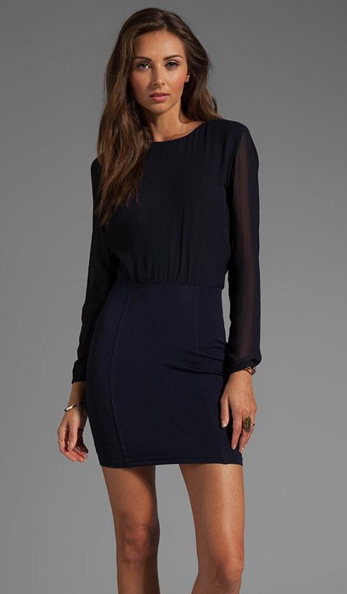 Freya Drape Long Sleeve Dress