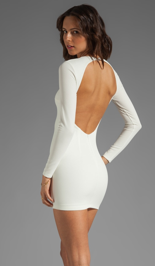 Estella Long Sleeve Backless Dress