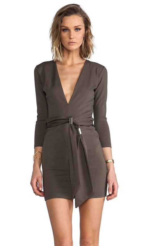 Exclusive Jaguar Long Sleeve Dress with Tie