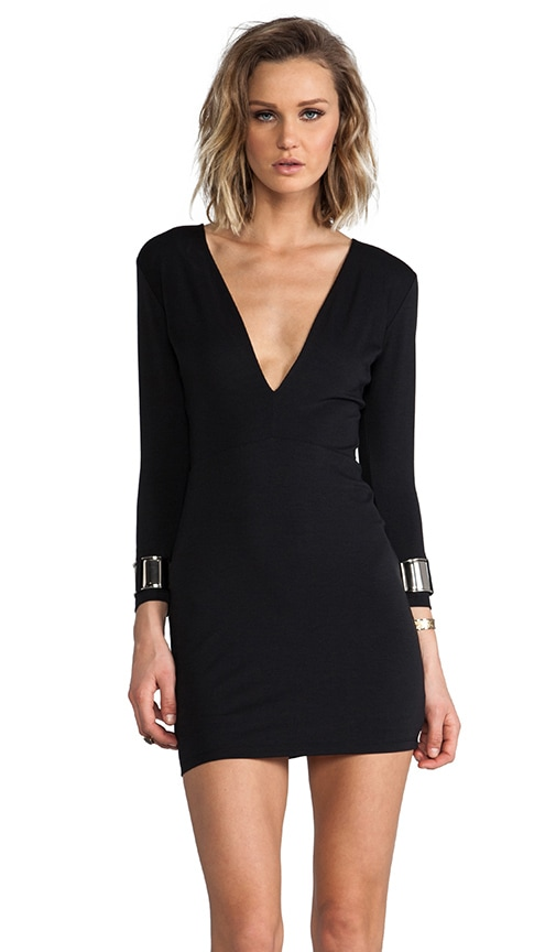 Exclusive Jaguar Long Sleeve Cuff Dress