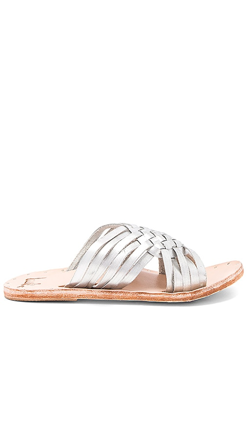 Beek Swallow Sandal in Metallic Silver