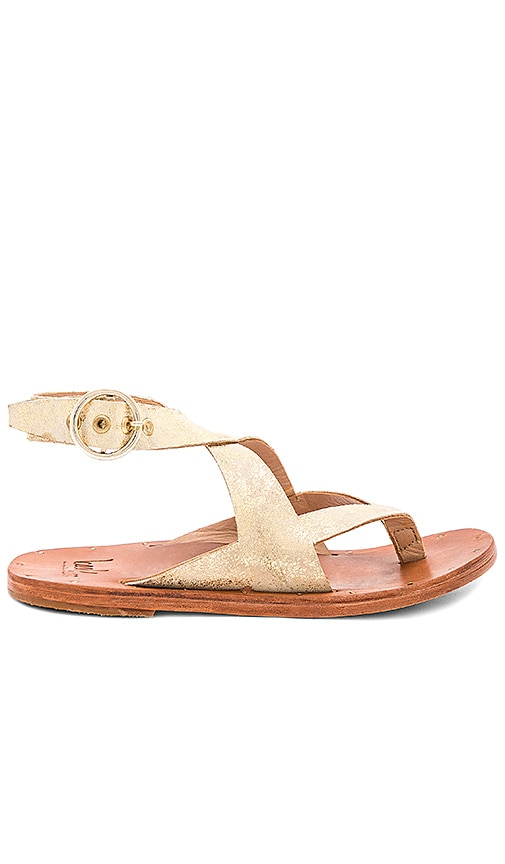 Beek Skimmer Sandal in Metallic Gold