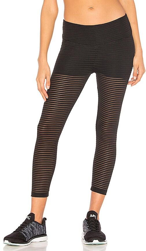 BELOFORTE Stripe Mesh Legging in Black