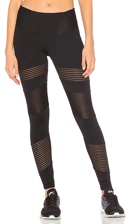 BELOFORTE Stripe Block Legging in Black