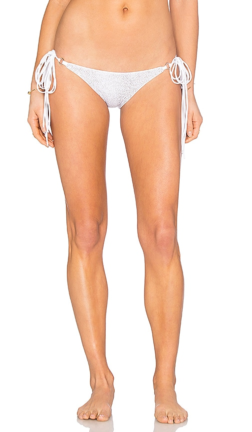 BELUSSO Ischia Reversible Bikini Bottom in White Shagreen