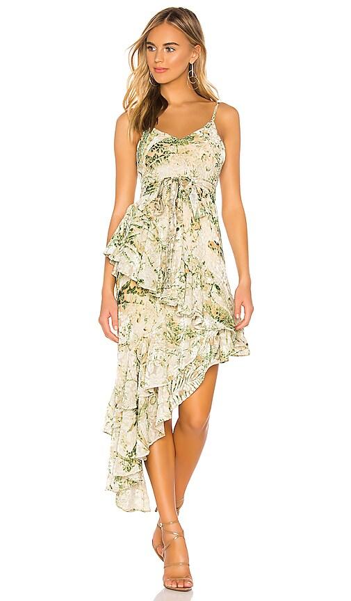 Emerald Velvet Brasso Lurex Dress