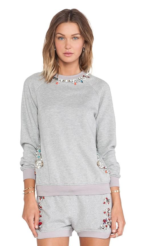 Crystal Neckline Sweatshirt